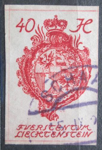 Poštovní známka Lichtenštejnsko 1920 Znak knížectví Mi# 23 Kat 8€