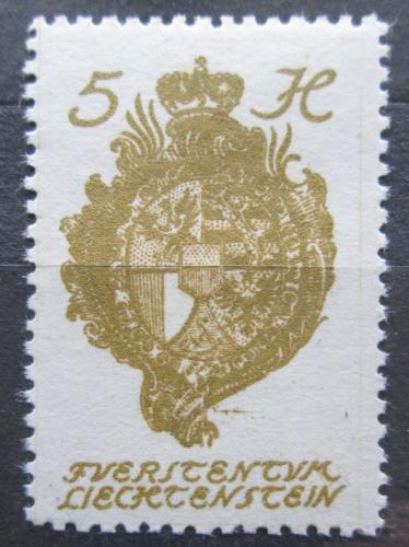 Poštovní známka Lichtenštejnsko 1920 Znak knížectví Mi# 25