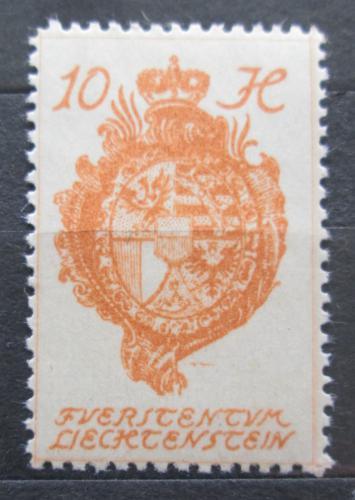 Poštovní známka Lichtenštejnsko 1920 Znak knížectví Mi# 26