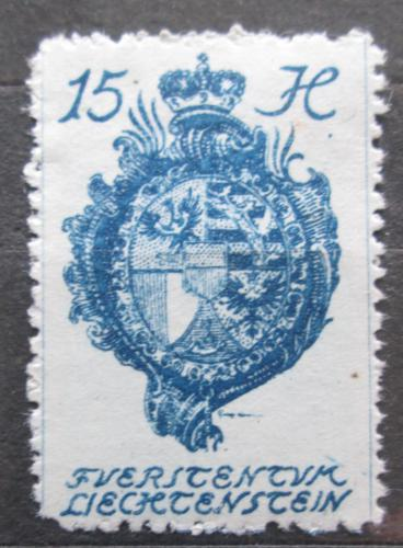 Poštovní známka Lichtenštejnsko 1920 Znak knížectví Mi# 27