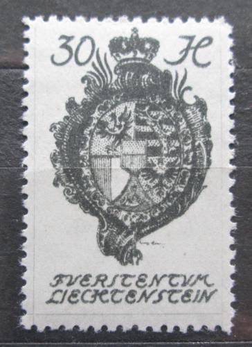 Poštovní známka Lichtenštejnsko 1920 Znak knížectví Mi# 30
