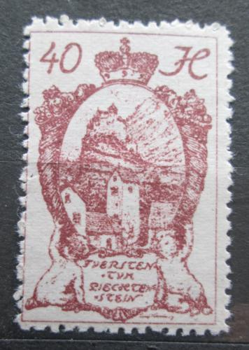Poštovní známka Lichtenštejnsko 1920 Hrad Gutenberg Mi# 31