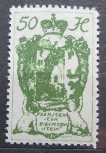 Poštovní známka Lichtenštejnsko 1920 Hrad Vaduz Mi# 32