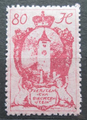 Poštovní známka Lichtenštejnsko 1920 Kostelní vìž v Schaan Mi# 34