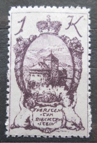 Poštovní známka Lichtenštejnsko 1920 Zámek Vaduz Mi# 35