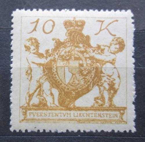 Poštovní známka Lichtenštejnsko 1920 Znak knížectví Mi# 39 Kat 17€