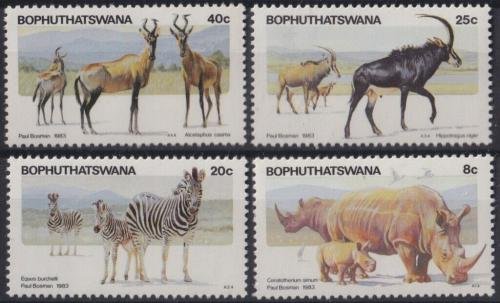 Poštovní známky Bophuthatswana, JAR 1983 Fauna Mi# 100-03