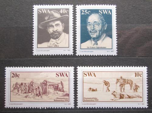 Poštovní známky Namíbie, SWA 1983 Tìžba diamantù Mi# 537-40