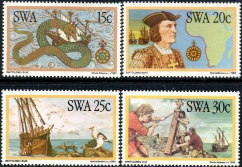 Poštovní známky Namíbie, SWA 1982 Bartholomeo Diaz Mi# 520-23