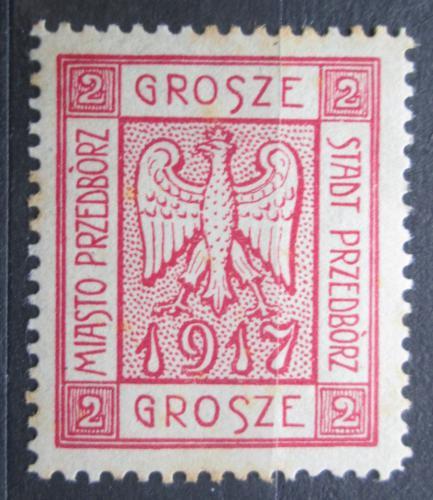 Poštovní známka Polsko, Przedbórz 1917 Státní znak VELKÁ RARITA Mi# 1 A Kat 120€