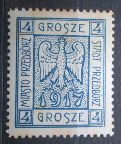 Poštovní známka Polsko, Przedbórz 1917 Státní znak VELKÁ RARITA Mi# 2 A Kat 100€