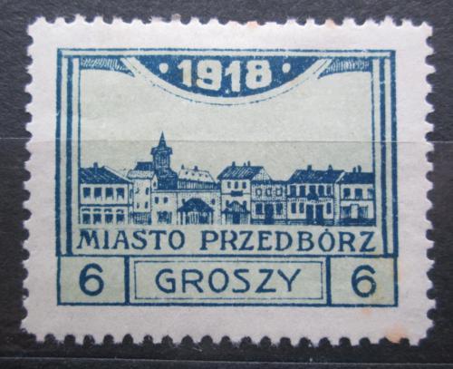 Poštovní známka Polsko, Przedbórz 1918 Pohled na mìsto RARITA Mi# 5 B Kat 40€