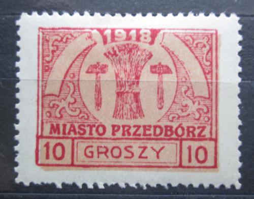 Poštovní známka Polsko, Przedbórz 1918 Mìstský znak RARITA Mi# 6 B Kat 60€