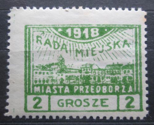 Poštovní známka Polsko, Przedbórz 1918 Pohled na mìsto Mi# 7 A Kat 17€