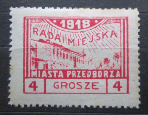 Poštovní známka Polsko, Przedbórz 1918 Pohled na mìsto Mi# 8 A Kat 17€