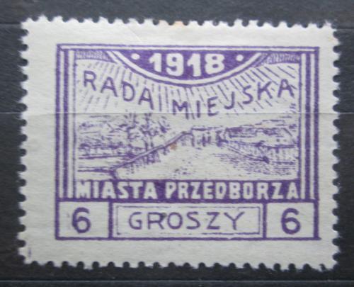 Poštovní známka Polsko, Przedbórz 1918 Pohled na mìsto RARITA Mi# 9 A Kat 35€