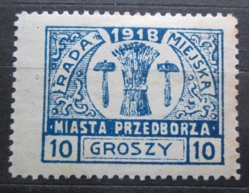 Poštovní známka Polsko, Przedbórz 1918 Mìstský znak RARITA Mi# 10 A Kat 35€
