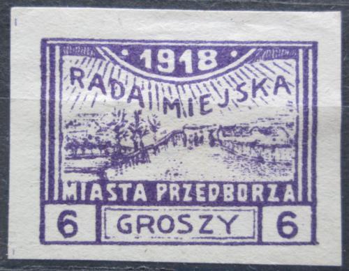 Poštovní známka Polsko, Przedbórz 1918 Pohled na mìsto RARITA Mi# 4 C Kat 85€