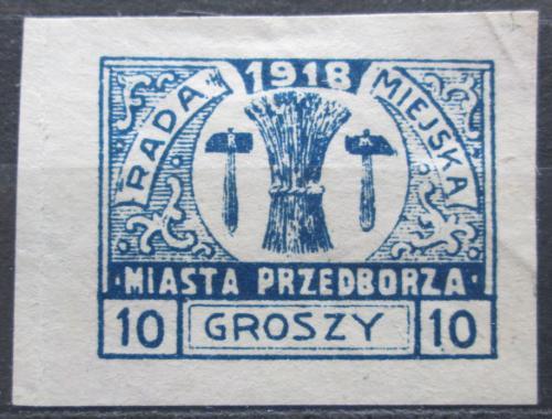 Poštovní známka Polsko, Przedbórz 1918 Mìstský znak RARITA Mi# 10 B Kat 50€