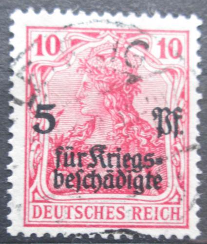 Poštovní známka Nìmecko 1919 Germania pøetisk Mi# 105 Kat 5.50€