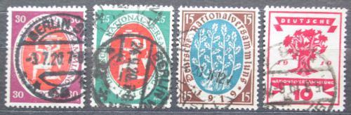Poštovní známky Nìmecko 1919 Národní shromáždìní ve Výmaru Mi# 107-10 Kat 9€