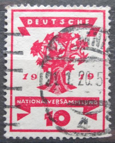 Poštovní známka Nìmecko 1919 Strom Mi# 107