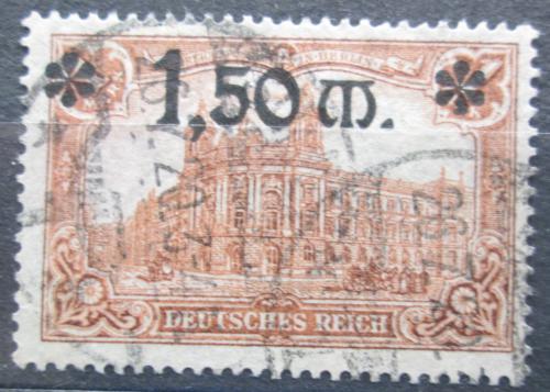 Poštovní známka Nìmecko 1920 Øíšská pošta pøetisk Mi# 117 Kat 9€
