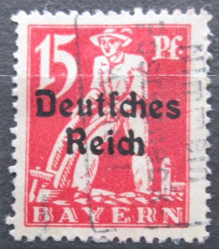 Poštovní známka Nìmecko 1920 Oráè pøetisk Mi# 121
