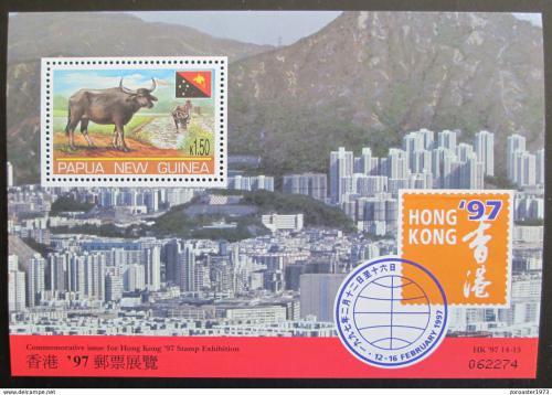 Poštovní známka Papua Nová Guinea 1997 Výstava HONG KONG Mi# Block 11