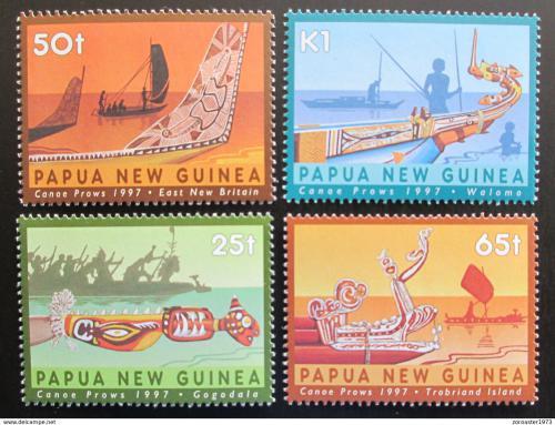 Poštovní známky Papua Nová Guinea 1997 Tradièní lodì Mi# 792-95
