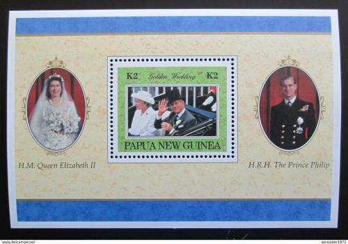 Poštovní známka Papua Nová Guinea 1997 Královský pár Mi# Block 12