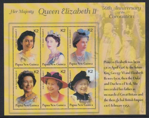 Poštovní známky Papua Nová Guinea 2003 Královna Alžbìta II. Mi# 982-87 Kat 8€