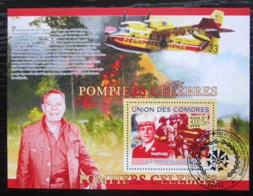 Poštovní známka Komory 2009 Hasièi Mi# Block 495 Kat 15€