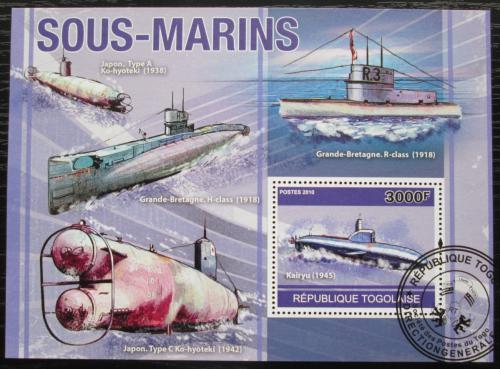 Poštovní známka Togo 2010 Ponorky Mi# Block 559 Kat 12€