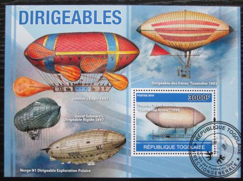Poštovní známka Togo 2010 Vzducholodì Mi# Block 554 Kat 12€