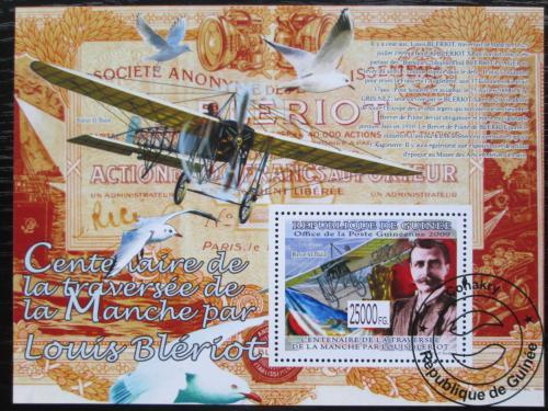 Poštovní známka Guinea 2009 Louis Blériot, letadla Mi# Block 1677 Kat 10€
