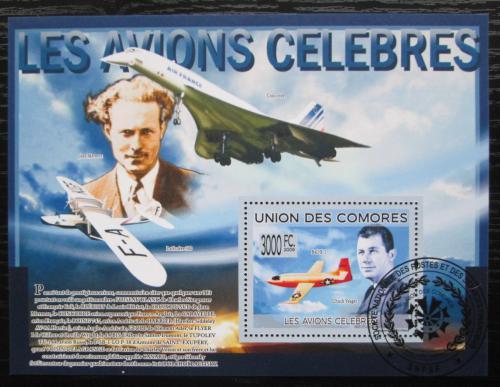 Poštovní známka Komory 2009 Letadla Mi# Block 509 Kat 15€