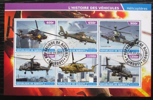 Poštovní známky Džibutsko 2015 Helikoptéry Mi# N/N