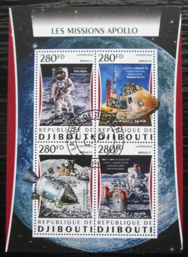 Poštovní známky Džibutsko 2016 Prùzkum Mìsíce, mise Apollo Mi# 1089-92 Kat 12€