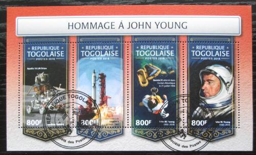 Poštovní známky Togo 2018 Prùzkum vesmíru, John Young Mi# 9021-24 Kat 12€