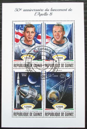 Poštovní známky Guinea 2018 Prùzkum Mìsíce, Apollo 8 Mi# 13145-48 Kat 20€