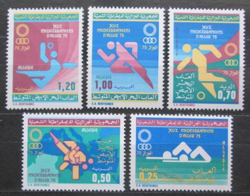Poštovní známky Alžírsko 1975 Sport Mi# 656-60