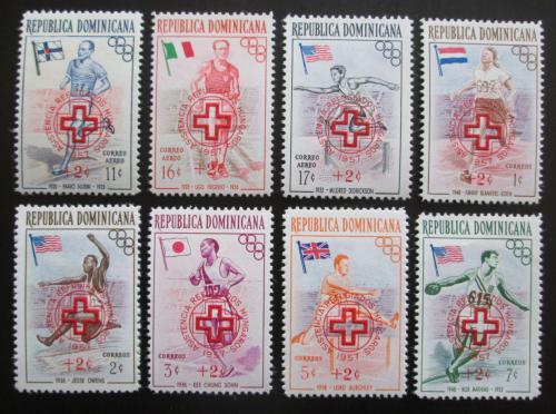 Poštovní známky Dominikánská rep. 1957 LOH Melbourne pøetisk Mi# 569-76