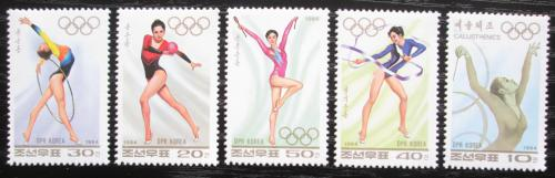 Poštovní známky KLDR 1994 Sportovní gymnastika Mi# 3619-23
