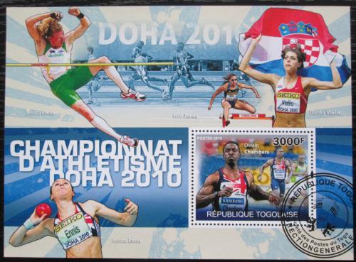 Poštovní známka Togo 2010 Lehká atletika Mi# Block 545 Kat 12€