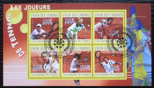 Poštovní známky Komory 2010 Slavní tenisti Mi# 2817-22 Kat 10€