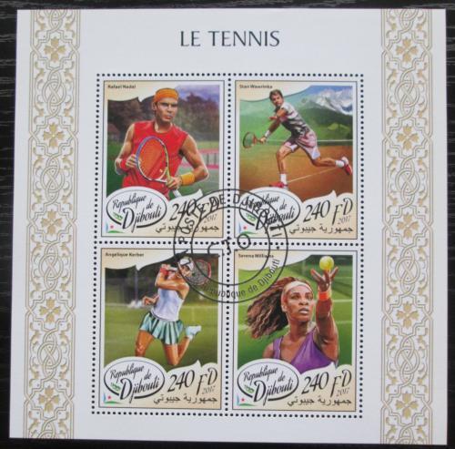 Poštovní známky Džibutsko 2017 Slavní tenisti Mi# 1801-04 Kat 10€