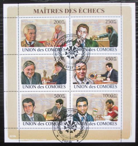 Poštovní známky Komory 2009 Slavní šachisti Mi# 2058-63 Kat 14€