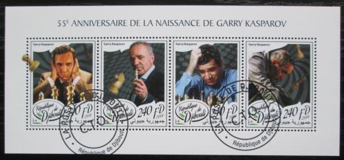 Poštovní známky Džibutsko 2018 Garri Kasparov, šachy Mi# N/N