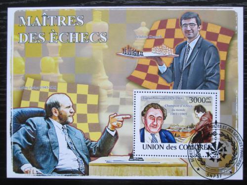 Poštovní známka Komory 2009 Slavní šachisti Mi# Block 466 Kat 15€
